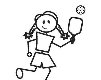 Pickleball Girl Decal