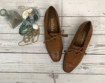 Vintage Brown Lace Up Oxfords - hipster mod