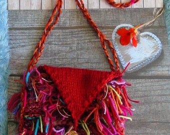 Paradise BAG, hand-knitted shoulder bag