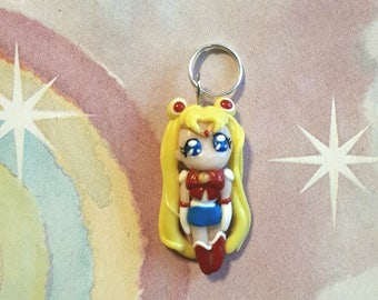 Chibi Sailor Moon made from polymer clay, polymer clay charm