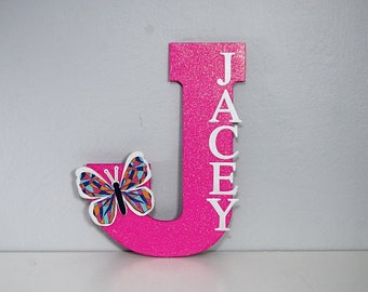 Glitter Letter, Custom Letter, Custom Color and Glitter, Girls Room Decor, Handmade Personalized Letters