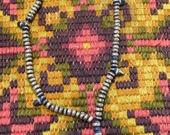 Silver ebony rosary