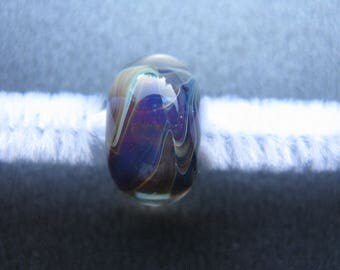 BORO Lampwork Focal Bead, Borosilicate Lampwork Focal, Lampwork Focal Bead, Purple, Ruby, Blue, Yellow, Handmade Lampwork, OOAK - HGD600