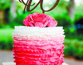 Letter W cake topper Cake toppers for wedding gold monogram cake topper letter A B C D E F G H I K L M N O cake topper  initial cake topper
