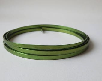 3 m 5 mm lime green flat aluminum wire