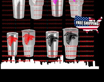 NFL Atlanta Falcons vinyl decal sticker for yeti tumbler