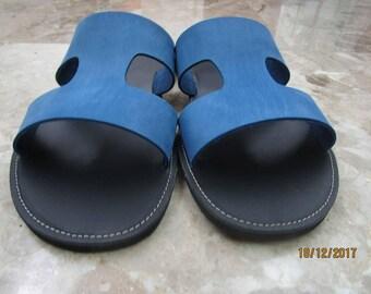 Men's Sandals,Mens Leather Sandals,Mens Sandals,Archaiko,Men's Sandals,Handmade Sandals,Leather Sandals, Greek Sandals,SOCRATES BLUE SKY