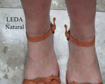 Sandals Women's,Wedding Sandals,Griechische Sandalen,Sandales grecques,Women's Sandals,Handmade leather Greek Sandals,Natural Sandals, LEDA