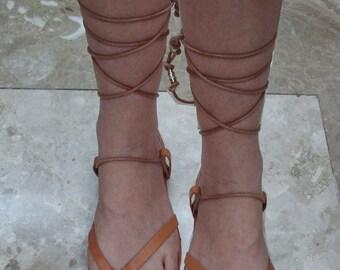 Sandals, leather sandals, Ancient sandals, summer sandals,Natural sandals,leather sandals, Greek sandals, women's sandals,Natural CAPRICORN