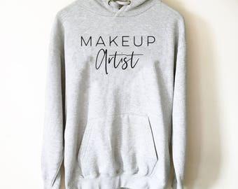 Makeup Artist Hoodie - Mascara T-Shirt, Lipstick T Shirt, Makeup Shirt, Muscles And Mascara, Lash Lipstick Shirt, Makeup Artist Shirt