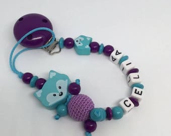 Pacifier little Fox to be personalized