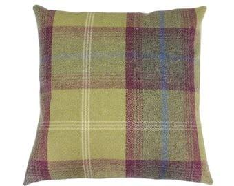 Balmoral Pistachio Checked Tartan Plaid Cushion Cover