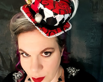 Wonderland Queen of Hearts hat