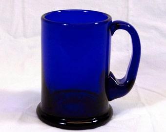 Bristol Blue Glass Pint Tankard