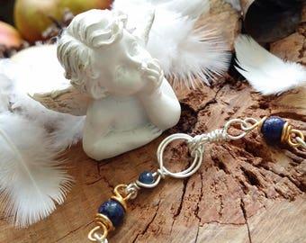Unique - Bracelet 16.5 cm of lapis lazuli and gold plated copper (not gold) and copper plated argent.*collection