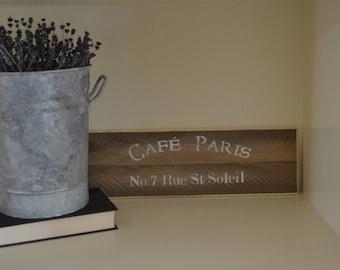 """Cafe Paris Sign 5.5""""X16"""""""