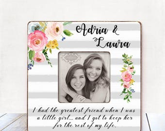 Sister Christmas Gift for Sister Birthday Gift Sister Wedding Gift Sister Personalized Gift Sister Picture Frame Sister Holiday Gift Maid of
