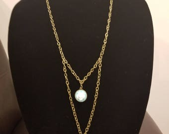 Blue and White Cameo Necklace