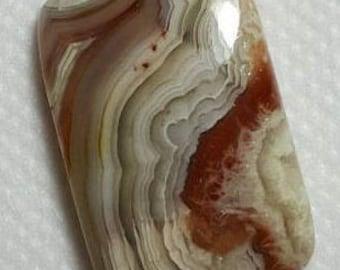 Crazylace agate natural plain rectangle cabochon - 17.5mm x 27mm x 5mm