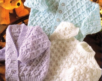 Baby Cardigans and Sweater, Knitting Pattern, Instant Download