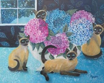 "Original Stillife Painting by Susanne Mason, ""Precious Friends"""
