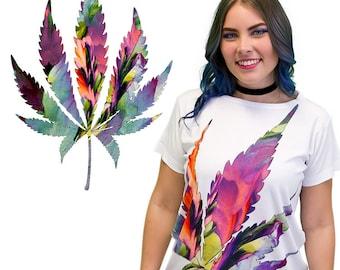 Crystal Cannabis 'Pastel Flower' Luxury Fabric Designer Shirt
