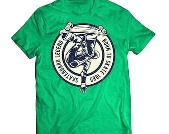 Born To Skate Skateboard Legend - Skating Shirt - Skater - Old School Vintage Grunge Tee Shirt Clothing TShirt 0030
