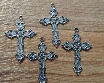 Silver Crosses ~ Large Crosses ~ Christian ~ Cross Pendant ~ Cross Charm ~ Cross ~ Necklace ~ Jewelry ~ Jewelry Making ~ Jewelry Supplies