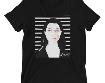 Luna and Stripes Unisex Tee by Robots Without Borders