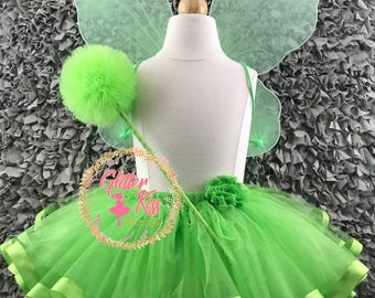 Tinkerbell Tutu Costume with Wings