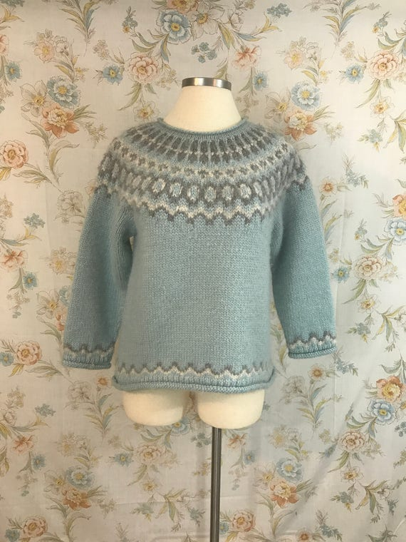 Vintage 1990s Winter Wool LL Bean Fair Isle Sweater