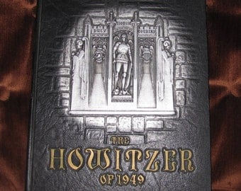 Vintage 1949 Howitzer West Point USMA Military Academy Annual Yearbook