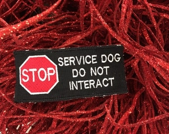 Service Dog Do Not Interact Patch
