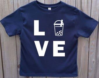 Kid's Boba Shirt, Love Boba, Toddler Bubble Tea Shirt, Bubble Tea T-shirt, Unisex kids funny shirt, Asian food shirt, Kid's food T-shirt