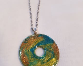ResinGalaxy Washer Necklace Pendant
