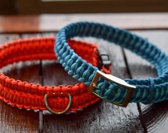 Paracord Dog Collar // Adjustable Tire Tread //  Adjustable Paracord Collar // Rope Collar // Custom Collar // Dog Collar