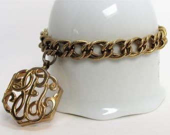 Vintage Signed SARAH COVENTRY Charm Fob Bracelet