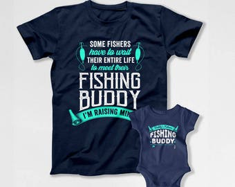 Father Son Matching Shirts Dad And Daughter T Shirts Daddy And Me Clothing Family Outfits Fishing Gifts For Fishermen TShirt TEP-256-255