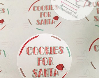20 Cookies for Santa Stickers,  Perfect for parcels, packages, letters,  Order, Labels, Stickers, Santa, Christmas, Sale, Clearance