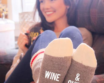 Wine & Chill Cabin Socks