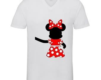 Designed Minnie Mouse Extended Hand Hugging Shirts Adult Unisex Men Size V Neck Best Seller T-Shirts