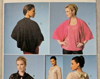 B5992, Butterick, Sewing Pattern, Jacket Pattern, Shrug Pattern, Capelet Pattern, Sizes L-XXL, Out of Print