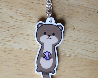 Cute Kawaii Otter Necklace - Acrylic Jewellery