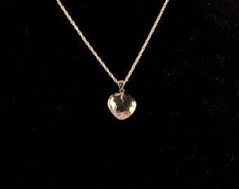 Clear Quartz Heart Necklace