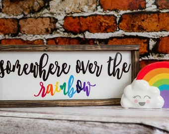 Somewhere Over The Rainbow Nursery Decor Baby Room Decor Baby Shower Gift Nursery Wall Decor Kids Room Decor Childrens Nursery Decor