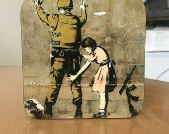 Banksy Coaster #51 - Banksy Gift - Banksy Coaster - Custom Coaster -Gift for Her - Gift For Him - Fridge Magnets - Banksy Magnet - Souvenir