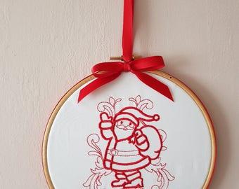 In Hoop Embroidery Design - Santa