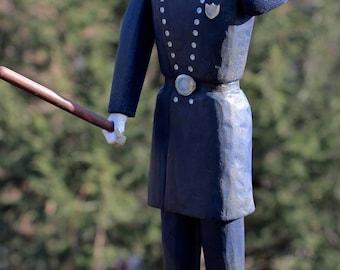 19th Century NYC Policeman Whirlygig – Folk Art Carving