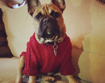 Dog sweater Hoodie Frenchie dog clothes french Bulldog