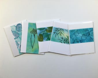 SALE! Set of 5 blank cards, original artwork, not reproductions: A2, fine cards, notecards, SKU BLA2SET4